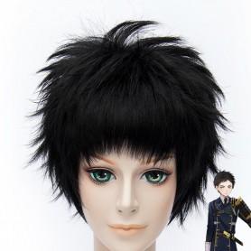 Touken Ranbu Online Tantou Atsu Toushirou Black Cosplay Wig