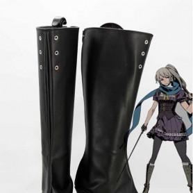 Unlight Cosplay Doppelsoldner Rudia Black Cosplay Boots