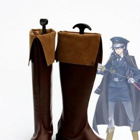 Unlight Generalissimus Evarist Brown Cosplay Boots