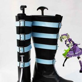 Unlight GrandGuignol Sheri Black & Blue Cosplay Boots