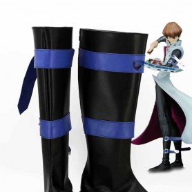 Yu-Gi-Oh! Cosplay Seto Kaiba Black & Blue Cosplay Boots