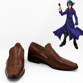 Yu-Gi-Oh! Cosplay Shay Obsidian Brown Cosplay Shoes