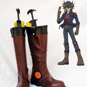 Yu-Gi-Oh! Yusei Fudo Brown Cosplay Boots