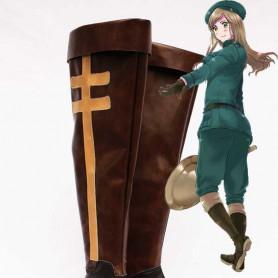 Axis Powers Hetalia Hungary Brown Cosplay Heel Boots