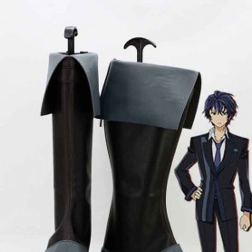 Black Bullet Rentaro Satomi Black & Grey Cosplay Boots