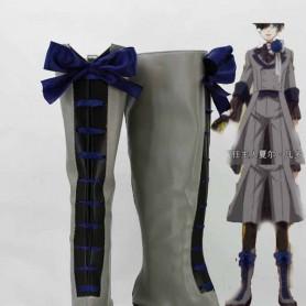 Black Butler 3 Ciel Phantomhive Black & Gray Cosplay Boots