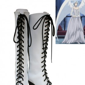 Black Butler Angela's White Lace Up Cosplay Boots
