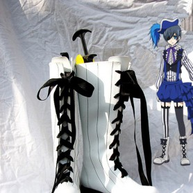 Black Butler Book of Circus Ciel Phantomhive White Cosplay Boots