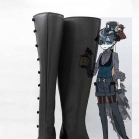 Black Butler Ciel Phantomhive Black & Gray Devil Cosplay Boots