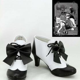 Black Butler Ciel Phantomhive Black & White Hight Heel Cosplay Boots