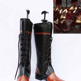Black Butler Ciel's Black and Orange Cosplay Boots