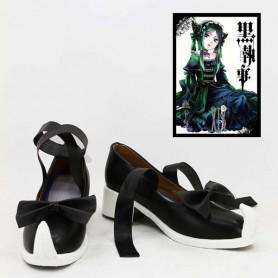 Black Butler Sieglinde Sullivan Black & White Cosplay Shoes