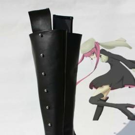 Bleach Riruka Dokugamine Black Long Cosplay Boots