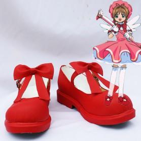 Cardcaptor Sakura Cosplay Sakura Kinomoto Red Cosplay Shoes