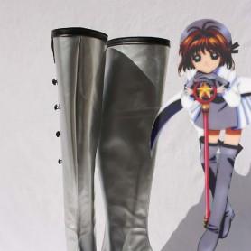 Cardcaptor Sakura Cosplay Sakura Kinomoto Silver Artificial Leather Cosplay Boots