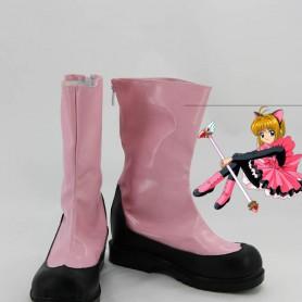 Cardcaptor Sakura Cosplay Sakura Pink & Black Cosplay Boots