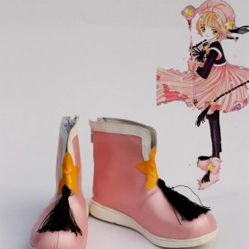 Cardcaptor Sakura Cosplay Sakura Pink Battle Mode Cosplay Boots