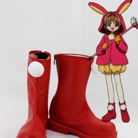 Cardcaptor Sakura Cosplay Sakura Red Cosplay Boots