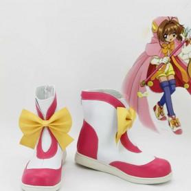 Cardcaptor Sakura Sakura Artificial Leather TV Cosplay Boots