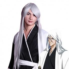 Silver And Gray 80cm Bleach Ukitake Jyushirou Cosplay Wig