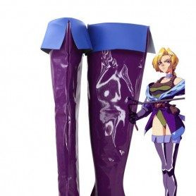 Castlevania Cosplay Soni Belmont Purple Cosplay Boots