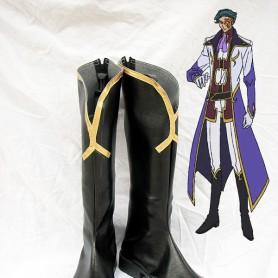 Code Geass Black Gottwald Jeremiah Cosplay Boots