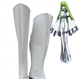 Code Geass Cosplay C.C. Medium Heel Cosplay Boots