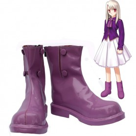 Fate Stay Night Illyasviel Von Einzbern Purple Cosplay Boots