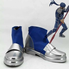 Fate Stay Night Lancer Silver & Blue Cosplay Boots