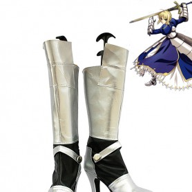 Fate Stay Night Saber Silver & Black Cosplay Boots