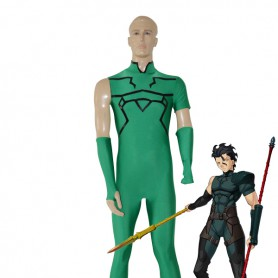 Fate Unlimited Codes Lancer Deep Green Cosplay Costume