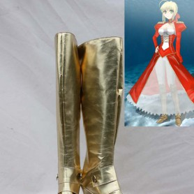 Fate/stay Night Cosplay Saber Gold Cosplay Boots