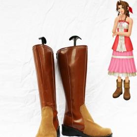 Final Fantasy VII Cosplay Aerith Brown Boots