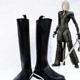 Final Fantasy VII Cosplay Shoes Kadaj Black Cosplay Boots