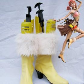 Final Fantasy XIII Vanilla Cute Yellow Furred Cosplay Boots