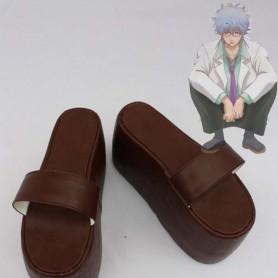 Gin Tama Cosplay Sakata Gintoki Brown Cosplay Slippers
