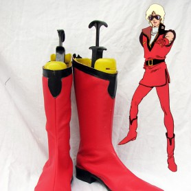 Mobile Suit GundamAuel Fancy Red Cosplay Boots