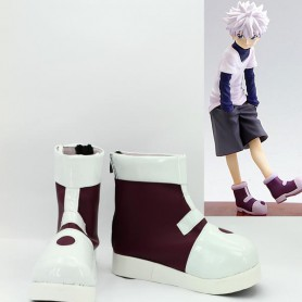 Hunter X Hunter Killua Zaoldyeck White Cosplay Boots