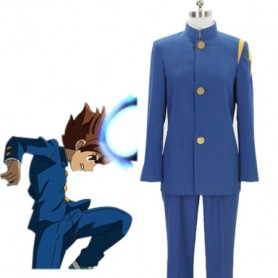 Inazuma Eleven Go Anime Blue Uniform Cosplay Costume