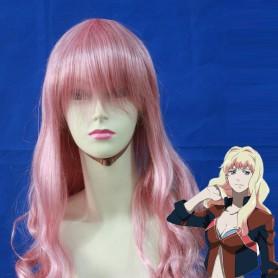 80cm Pink Macross F Sheryl Nome Cosplay Wig