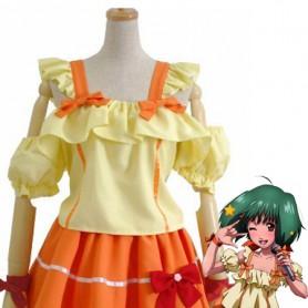 Macross Frontier Ranka Lee Orange & Yellow Cosplay Costume