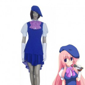 Macross Frontier Sheryl Nome Blue & White Cosplay Costume