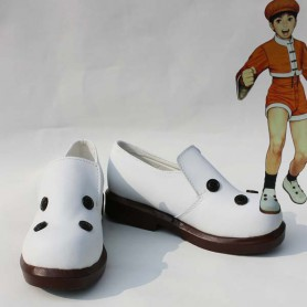 The King of Fighters Cosplay Bao White Cosplay Shoes
