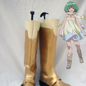 Macross Frontier Ranka Lee Golden Cosplay Boots