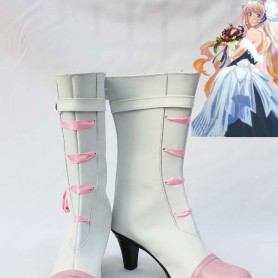 Macross Frontier Sheryl Nome White Cosplay Boots