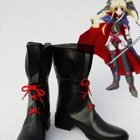 Magical Girl Lyrical Nanoha Cosplay Fate Imitated Boots