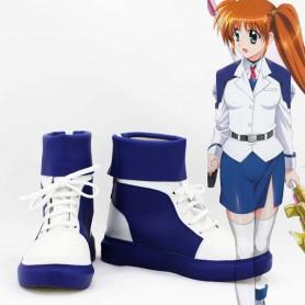 Magical Girl Lyrical Nanoha Cosplay Nanoha Takamachi Short Cosplay Boots
