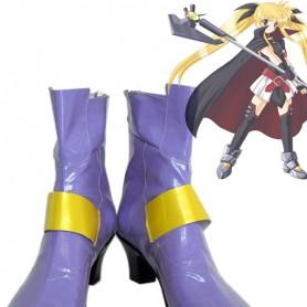 Magical Girl Lyrical Nanoha Fate Testarossa Cosplay Boots
