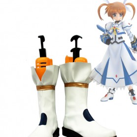 Magical Girl Lyrical Nanoha Takamachi Nanoha Battle Mode Version Cosplay Boots
