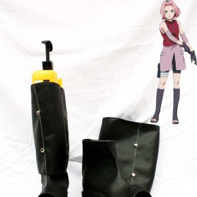 Naruto Cosplay Sakura Haruno Black Shinobi Boots